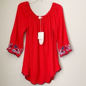 BeachLunchLounge | Off The Shoulder Cherry Top